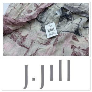 🆕 J. Jill infinity scarf-oatmeal with wine & gray